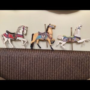 Willittz wall decor set 3 vintage carousel horses